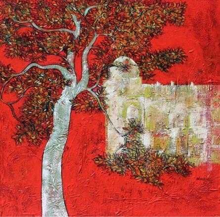 Treescape | Painting by artist Bhaskar Rao | acrylic | Canvas