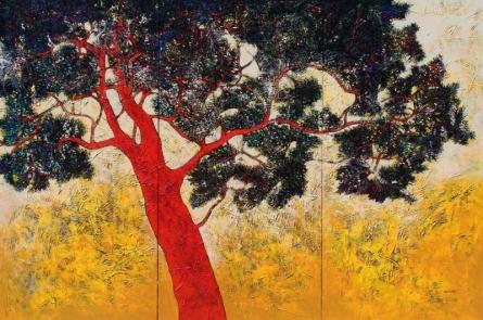 Treescape 6 | Painting by artist Bhaskar Rao | acrylic | Canvas