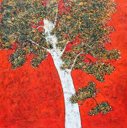 Treescape 8 | Painting by artist Bhaskar Rao | acrylic | Canvas