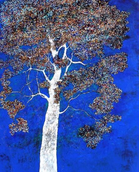 Treescape 9 | Painting by artist Bhaskar Rao | acrylic | Canvas