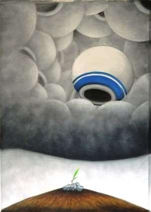 Ranchhor Meghwal | Oil Painting title Ankur on Canvas | Artist Ranchhor Meghwal Gallery | ArtZolo.com