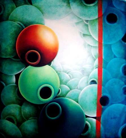 Redline | Painting by artist Ranchhor  Meghwal | oil | Canvas