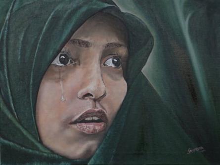 Those Limpid Pools | Painting by artist Sripriya Mozumdar | oil | Canvas