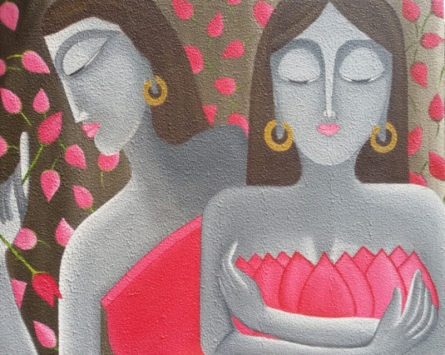 Nazaakat | Painting by artist Roopal Pachauri | oil | Canvas