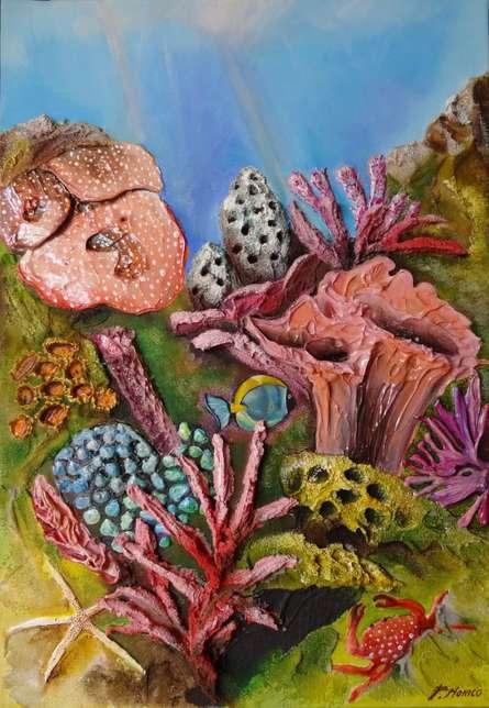 Fondale Marino  | Painting by artist Francesca Monico | acrylic | Canvas