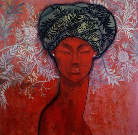 Expressionist Acrylic Art Painting title 'Passions Inside' by artist Suruchi Jamkar