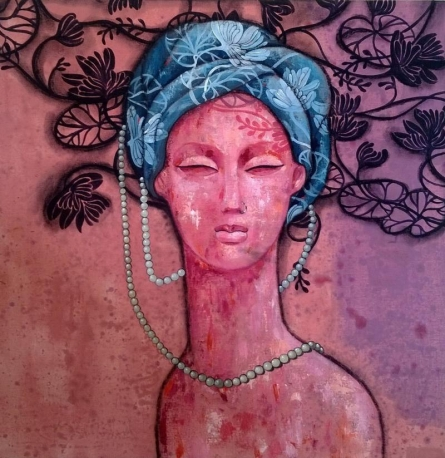 Suruchi Jamkar | Acrylic Painting title Serenity Of My Mind on Canvas | Artist Suruchi Jamkar Gallery | ArtZolo.com