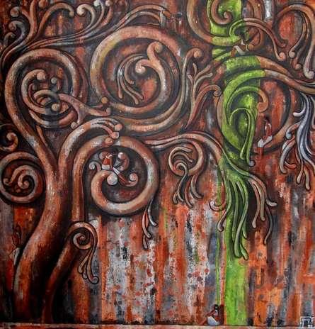 Ancient Design Ii | Painting by artist Suruchi Jamkar | acrylic | Canvas