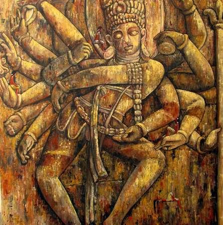 Dance Of Creation   Painting by artist Suruchi Jamkar   acrylic   Canvas