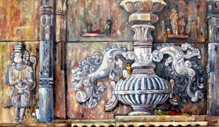 The Urn Of Life | Painting by artist Suruchi Jamkar | acrylic | Canvas