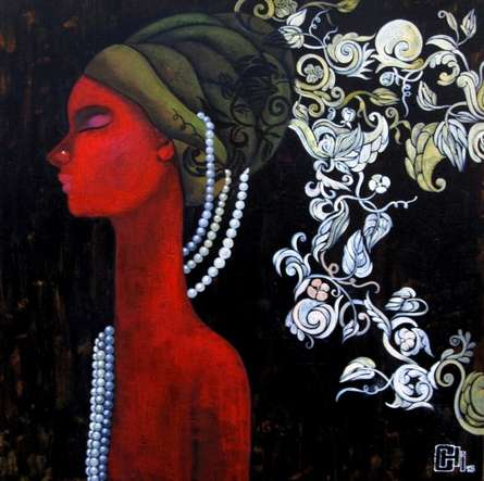 Expressionist Acrylic Art Painting title 'Designs Of A Thinking Mind' by artist Suruchi Jamkar