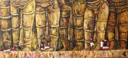 The Grand Welcome | Painting by artist Suruchi Jamkar | acrylic | Canvas