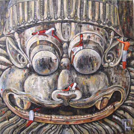 Suruchi Jamkar | Acrylic Painting title Exploring The Divine Iii on Canvas | Artist Suruchi Jamkar Gallery | ArtZolo.com