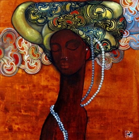 Suruchi Jamkar | Acrylic Painting title Beautiful Thoughts on Canvas | Artist Suruchi Jamkar Gallery | ArtZolo.com