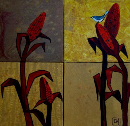 Corn Fields Painting | Painting by artist Suruchi Jamkar | acrylic | Canvas