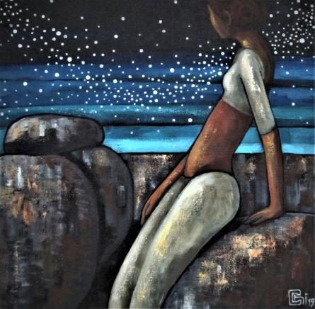 Figurative Acrylic Art Painting title 'Alive 4' by artist Suruchi Jamkar