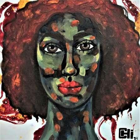 Portrait Acrylic-oil Art Painting title 'Expressions 4' by artist Suruchi Jamkar