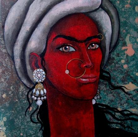 Girl With Bright Eyes | Painting by artist Suruchi Jamkar | acrylic | Canvas
