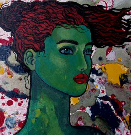 Green Girl | Painting by artist Suruchi Jamkar | oil | Canvas