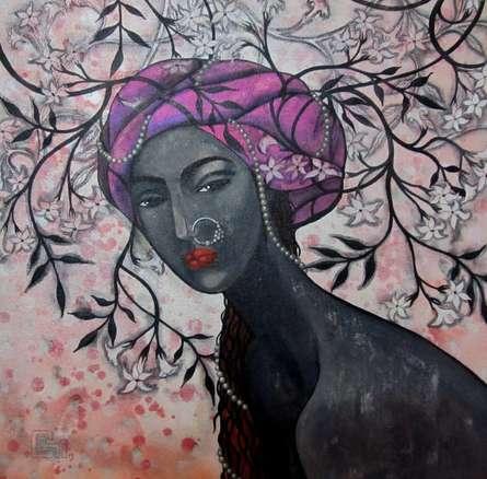 The mind weaving designs   Painting by artist Suruchi Jamkar   acrylic   Canvas
