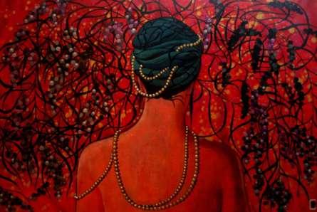 Suruchi Jamkar | Acrylic Painting title Pearls Of Wisdom on Canvas | Artist Suruchi Jamkar Gallery | ArtZolo.com