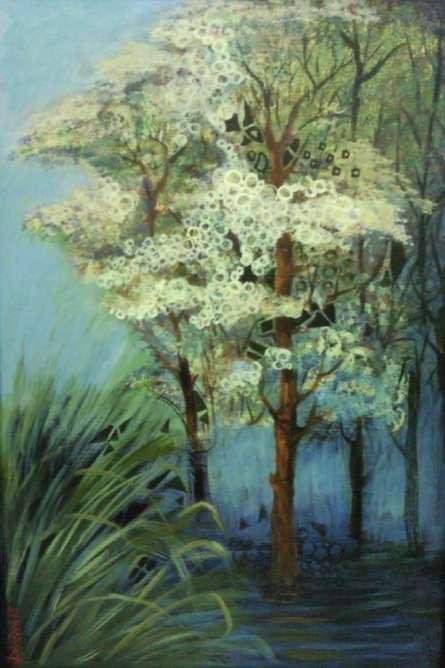 Landscape Acrylic Art Painting title 'Landscape II' by artist DEVIRANI DASGUPTA
