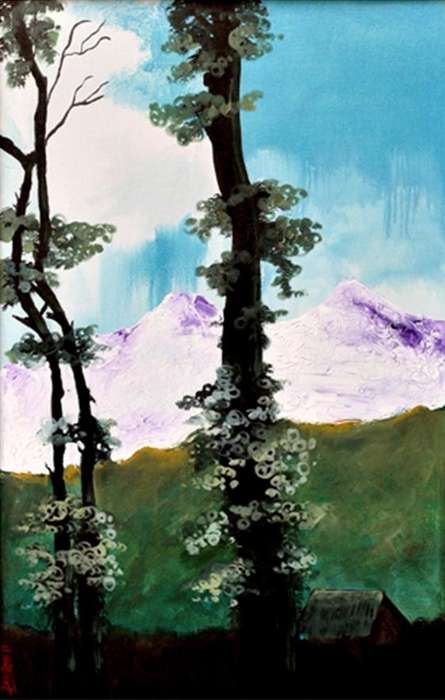 Landscape Acrylic Art Painting title 'Landscape III' by artist DEVIRANI DASGUPTA