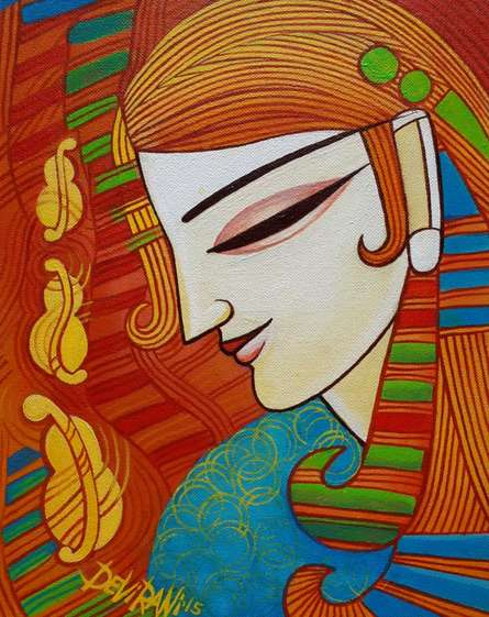 Melody | Painting by artist DEVIRANI DASGUPTA | acrylic | Canvas Board
