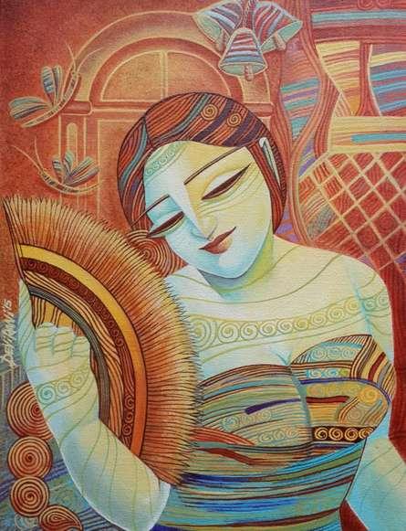 Queen V   Painting by artist DEVIRANI DASGUPTA   acrylic   Canvas