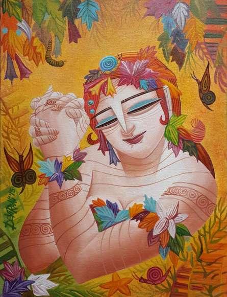 Queen VI | Painting by artist DEVIRANI DASGUPTA | acrylic | Canvas