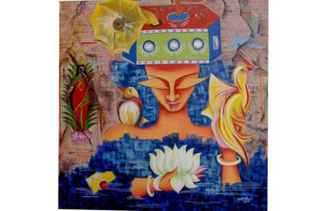 dreams & desire | Painting by artist Deepali Mundra | acrylic | Canvas