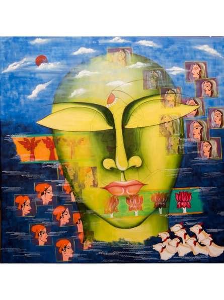Figurative Acrylic Art Painting title Shivohum 4 by artist Deepali Mundra