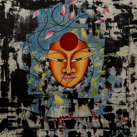 Ananta | Painting by artist Deepali Mundra | acrylic-oil | Canvas