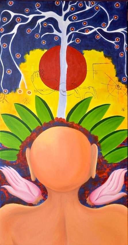 Figurative Acrylic Art Painting title 'Nirvana 2 ' by artist Deepali Mundra