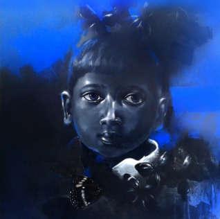 Figurative Mixed-media Art Painting title 'Dream I' by artist Mithun Dutta