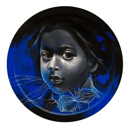 Figurative Mixed-media Art Painting title 'Dream II' by artist Mithun Dutta