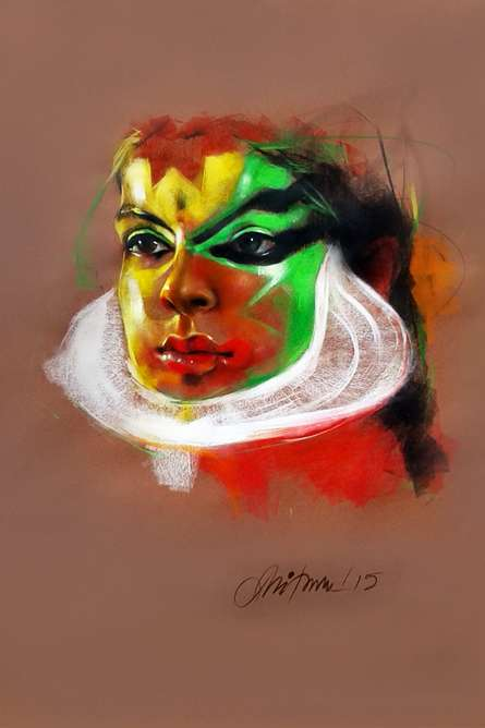 Expression | Painting by artist Mithun Dutta | mixed-media | Canvas
