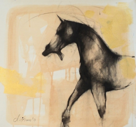 art, painting, mixedmedia, canvas, animal, horse
