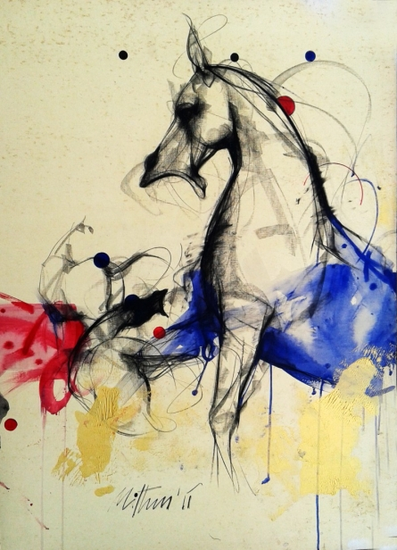 Motion XII | Painting by artist Mithun Dutta | mixed-media | Canvas Board