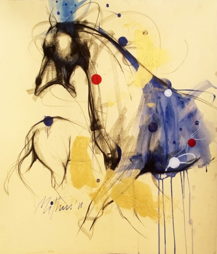 Animals Mixed-media Art Painting title Untitled II by artist Mithun Dutta
