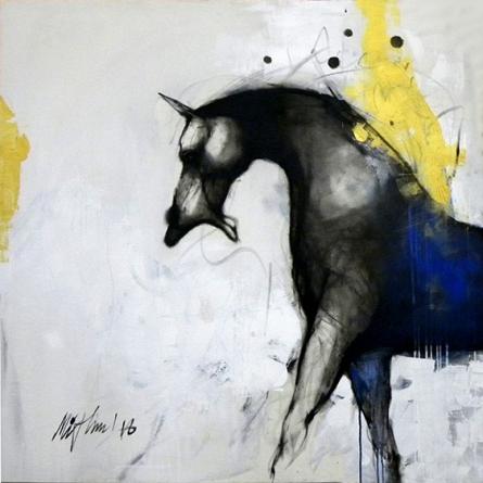 Animals Acrylic Art Painting title 'Untittled 2' by artist Mithun Dutta
