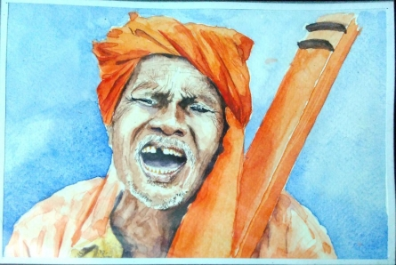 Water colour on paper | Painting by artist Akash Chavan | watercolor | Paper