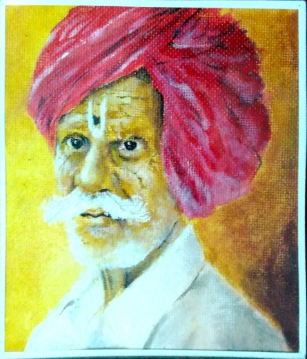 Acrylic on handmade paper | Painting by artist Akash Chavan | acrylic | Canvas