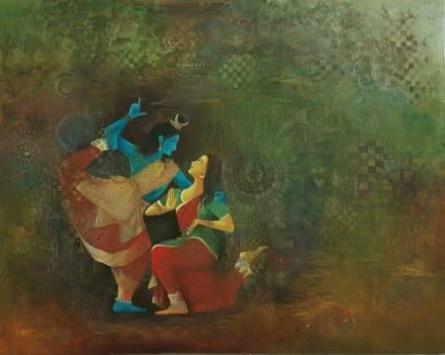 Shiva | Painting by artist Durshit Bhaskar | oil | Canvas