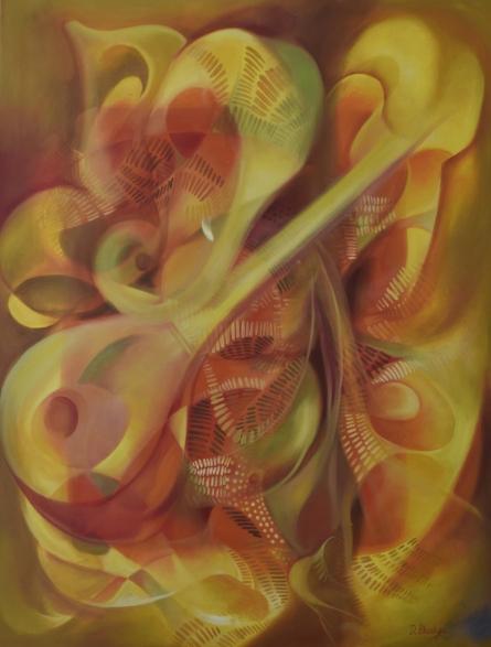 Religious Oil Art Painting title Ganesha Bhuvanpati by artist Durshit Bhaskar