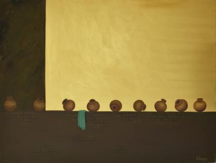 Lifestyle Oil Art Painting title Variance by artist Durshit Bhaskar