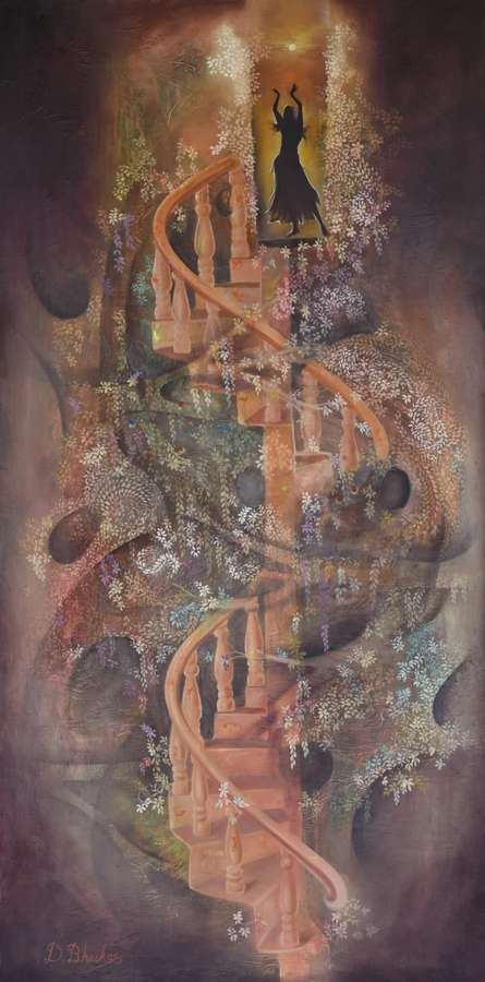 Musical Evening | Painting by artist Durshit Bhaskar | oil | Canvas
