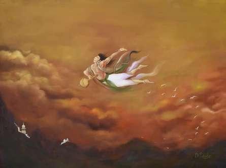 Flight of Fantasy | Painting by artist Durshit Bhaskar | oil | canvas