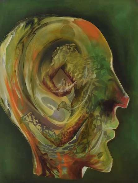Dab100 | Painting by artist Durshit Bhaskar | oil | Canvas