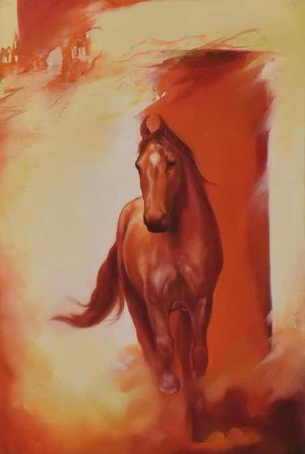 Horse | Painting by artist Durshit Bhaskar | oil | Canvas